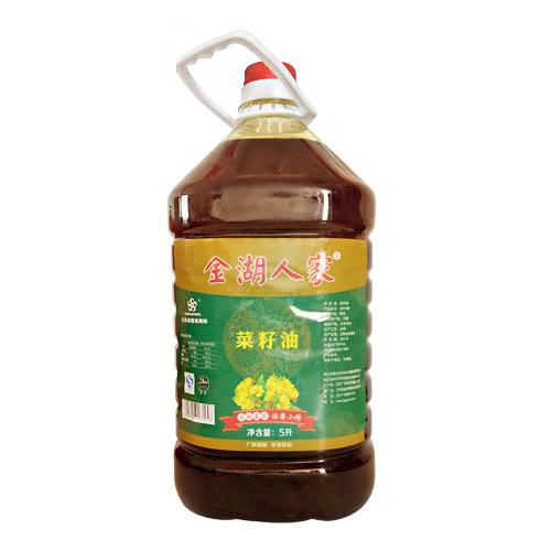 金湖人家浓香小榨菜籽油5L