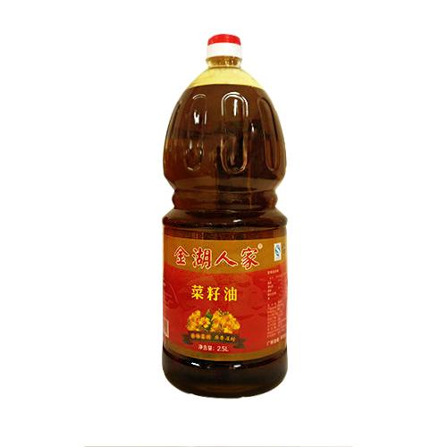 金湖人家原香压榨菜籽油2.5L