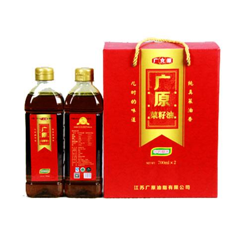 广原菜籽油礼盒装(700ml*2)