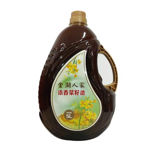金湖人家浓香菜籽油(5L)