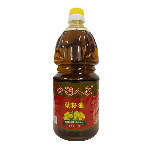 金湖人家原香压榨菜籽油1.8L