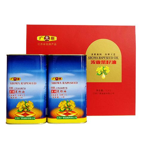 易拉罐菜籽油礼盒装(1L*2)
