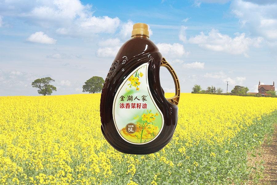金湖人家浓香菜籽油5L
