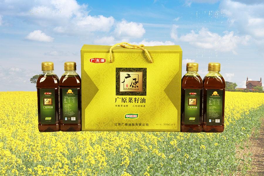 广原菜籽油礼盒(500ml)展示